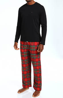 Tommy Hilfiger Sleep Top and Flannel Pant Gift Set 09T1054