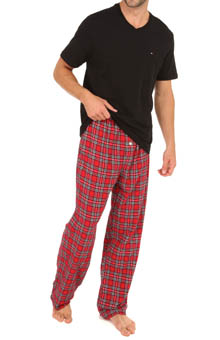 Tommy Hilfiger Sleep Top and Flannel Pant Gift Set 09T1062