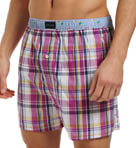 Monterey Plaid with Flags Woven Boxer Image