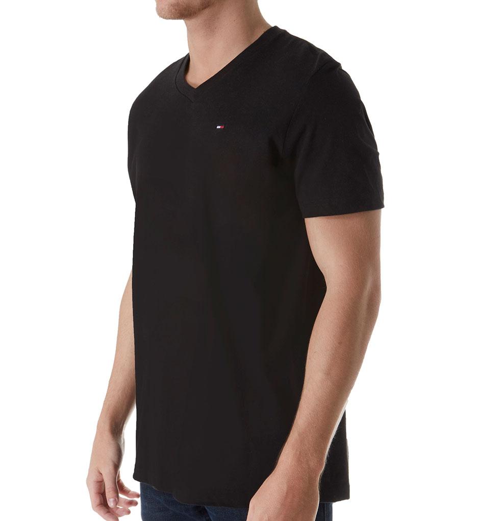 tommy hilfiger basic 100 cotton core flag v neck t shirt. Black Bedroom Furniture Sets. Home Design Ideas