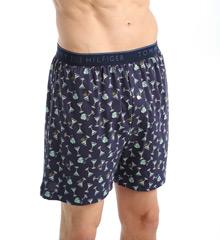 Tommy Hilfiger 09T23K 100% Cotton Printed Knit Boxer