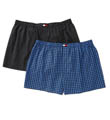 Tommy Hilfiger Big Man Woven Check Boxer - 2 Pack 09TB022
