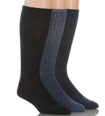 Calvin Klein Cotton Rich Casual Rib Socks - 3 Pack