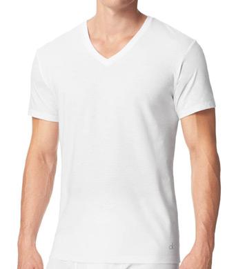Calvin Klein Cotton Classic Short Sleeve V-Neck Tees - 3 Pack