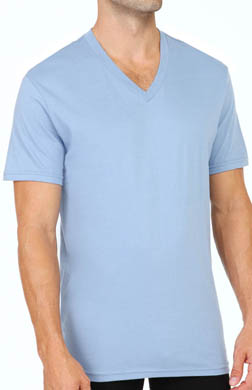 Calvin Klein Short Sleeve V-Neck T-Shirts - 3 Pack