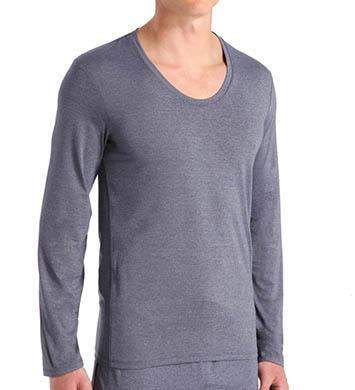 Calvin Klein Ease Long Sleeve Curve Neck Shirt