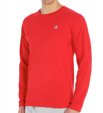 Champion Cotton Jersey Athletic Fit Long Sleeve Tee