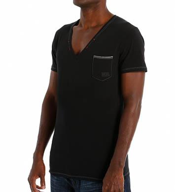 Diesel Jesse Cotton Stretch Deep V-Neck T-Shirt
