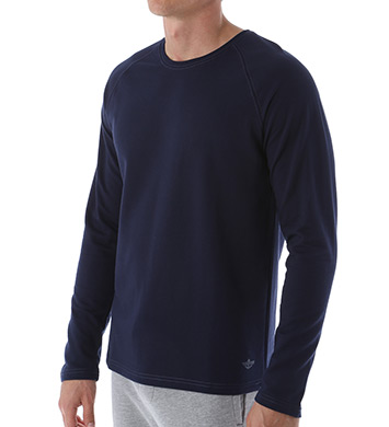 Dockers French Terry Long Sleeve Henley Crew Shirt