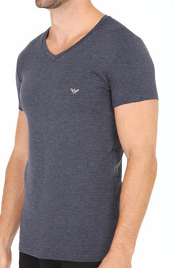 Emporio Armani Cotton Modal V-Neck T-Shirts