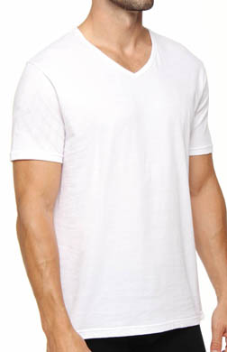 Emporio Armani 100% Cotton V-Neck T-Shirts - 3 Pack