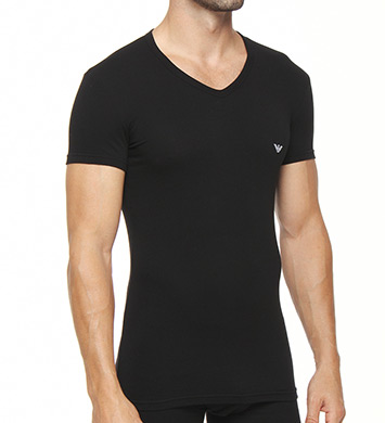Emporio Armani Essentials Eagle Stretch Cotton V-Neck