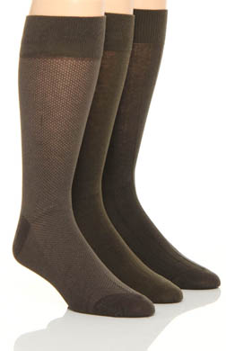 Florsheim Socks Fashion Basics Wardrobe Socks - 3 Pack