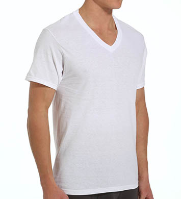 Fruit Of The Loom Mens Core 100% Cotton V-Neck T-Shirts - 3 Pack