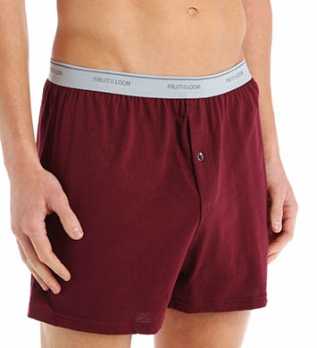 Fruit Of The Loom Big Man 100% Core Cotton Assort Knit Boxer- 3 Pack