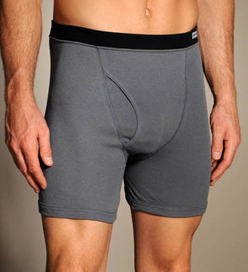 Fruit Of The Loom Covered Elastic Boxer Briefs - 4 Pack