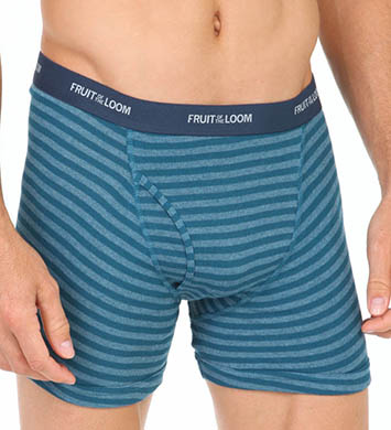 Fruit Of The Loom Assorted Stripes Low Rise Boxer Briefs - 4 Pack