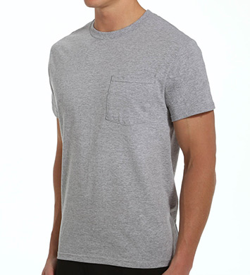 Fruit Of The Loom Big Man Core 100% Cotton Grey Pocket Tee - 4 Pack