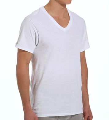 Fruit Of The Loom Mens Core 100% Cotton V-Neck T-Shirts - 5 Pack