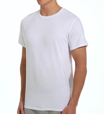 Fruit Of The Loom Mens Core 100% Cotton Crew White T-Shirts - 5 Pack