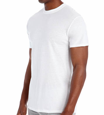 Hanes Original Cotton White Crew Neck T-Shirts - 3 Pack