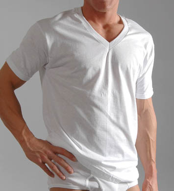 Hanes Big Mens Original Cotton V-Neck T-Shirts - 3 Pack