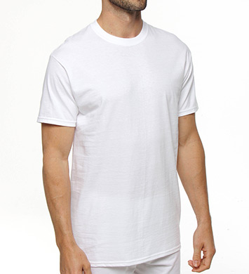 Hanes Premium Cotton White Crew Neck T-Shirts - 3 Pack