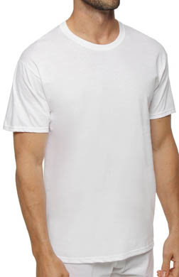 Hanes White Crewneck T-Shirts - 6 Pack