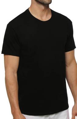 Hanes Black Crewneck T-Shirts - 3 Pack