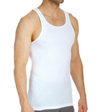 Hanes Premium Cotton White A-Shirts - 7 Pack