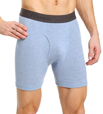 Hanes X-Temp Cotton Performance Boxer Briefs - 3 Pack