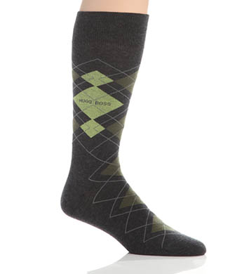 Hugo Boss Combed Cotton Argyle Socks