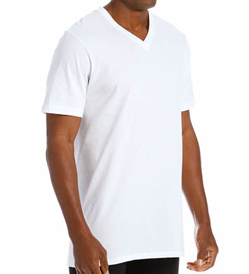 Jockey Tall Man StayNew 100% Cotton Vee T-Shirt - 2 Pack