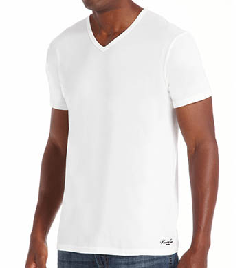 Kenneth Cole Super Fine Cotton V-Neck T-Shirts - 2 Pack