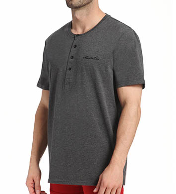 Kenneth Cole Short Sleeve Henley Sleep Top