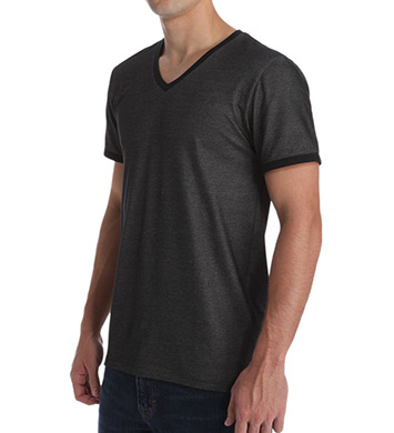 Kenneth Cole Cotton Stretch Pique V-Neck Tee