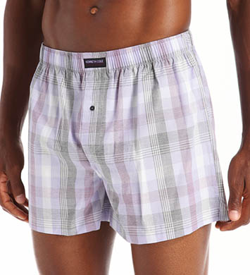 Kenneth Cole Reaction Fashion Plaid Cotton Woven Boxer