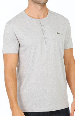 Lacoste Short Sleeve Pima Cotton Henley T-Shirt