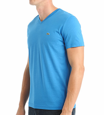 Lacoste 100% Pima Cotton V-Neck Short Sleeve T-Shirt