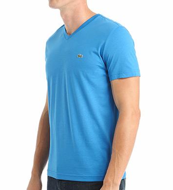 Lacoste 100% Pima Cotton V-Neck Short Sleeve T-Shirt