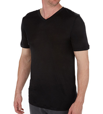 Magic Silk 100% Silk Knit V-Neck T-Shirt