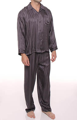 Mansilk Striped Jacquard Pajama Set