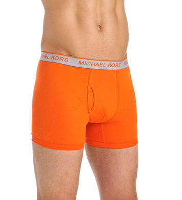Michael Kors Soft Touch Cotton Boxer Briefs - 3 Pack