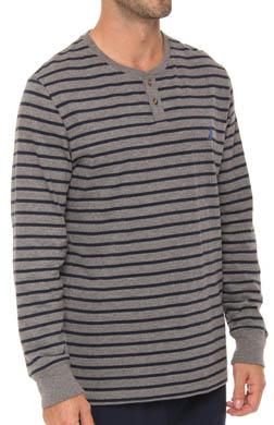 Nautica Long Sleeve Stripe Henley