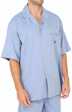 Nautica Herringbone Camp Shirt