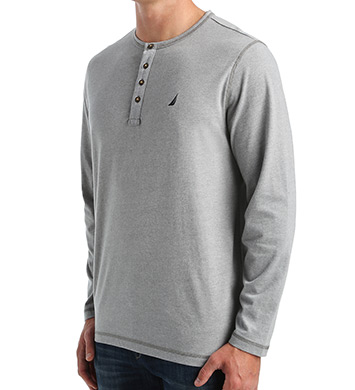Nautica Sueded Jersey Long Sleeve Henley