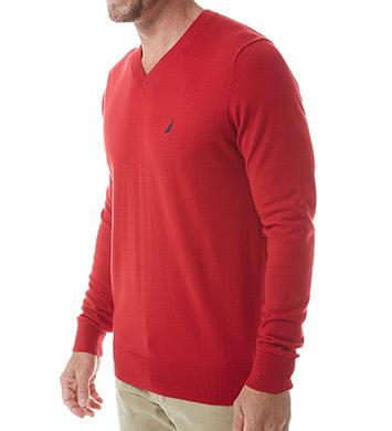 Nautica Cotton Modal V-Neck Sweater