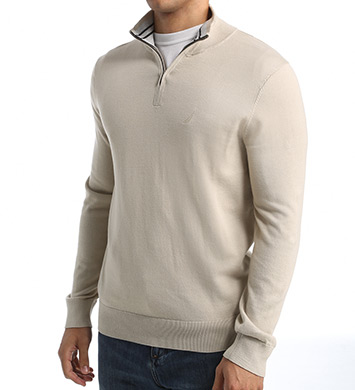 Nautica Solid 1/4 Zip Sweater