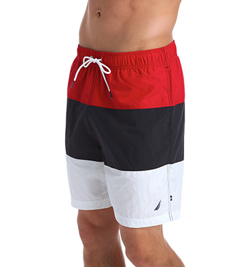 Nautica Mariner Color Block 18 Swim Trunk