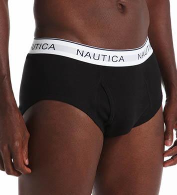 Nautica 100% Cotton Full Cut Brief- 3 Pack